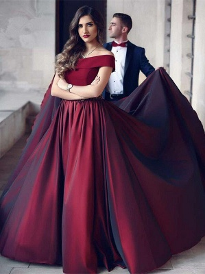 Burgundy evening dresses long cheap strapless evening dresses prom dresses online_1