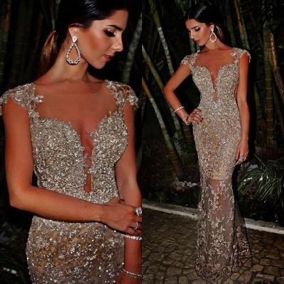 Luxury Abendkleider Abiballkleider Perlen Spitze Abendmoden Online Kaufen_2