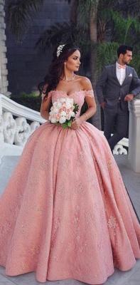 Luxus Abendkleider Lang Rosa | Prinzessin Abendmoden Online_2