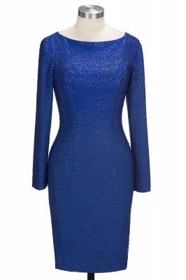 Dunkel Blau Kurze Brautmutterkleider Mit Ärmel Kleider Für Brautmutter_1