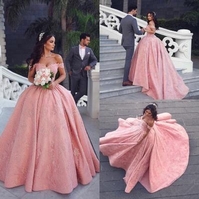 Luxus Abendkleider Lang Rosa | Prinzessin Abendmoden Online_3