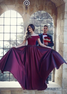 Burgundy evening dresses long cheap strapless evening dresses prom dresses online_2