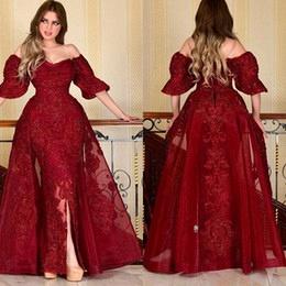 Designer Abendkleider Mit Ärmel | Rote Abiballkleider Mit Spitze_3