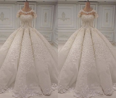 Luxury Wedding Dresses A Line | Wedding dresses with lace online_2