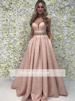 Designer Evening Dress Pink Long Cheap | Prom dresses lace online_2