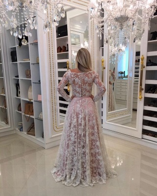 Evening dresses lace long sleeves a line prom dresses cheap online_2