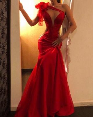 Schlichtes Abendkleider Lang Rot | Abiballkleider Günstig Kaufen_1