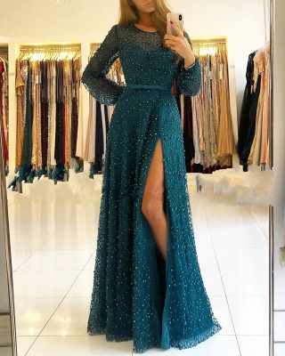 Designer Evening Dresses With Sleeves | Wine red evening wear lace_2