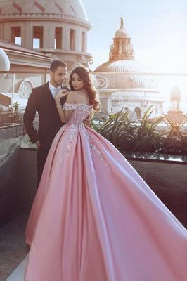 Schönste Abendkleider Online Rosa A Line Abiballkleider Lang Günstig_2