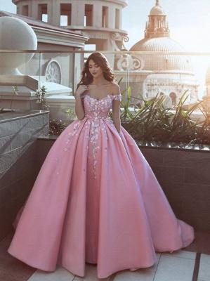 Schönste Abendkleider Online Rosa A Line Abiballkleider Lang Günstig_1