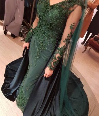 Elegante Grüne Abendkleider | Abendkleid Mit Ärmel Online_5