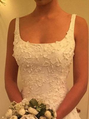 Fashion Hochzeitskleider A Linie Späghetti Träger Spitze Hochzeitskleider Online_4