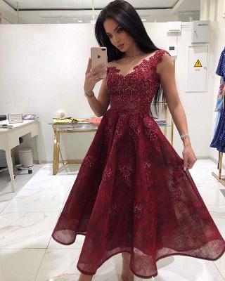 Designer Red Cocktail Dresses Online | Buy Lace Short Evening Dresses_1