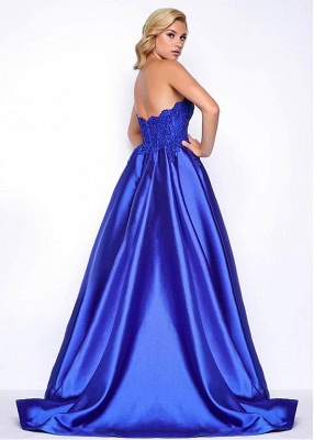 King Blue Evening Dresses Long Cheap | Prom dresses with lace_2