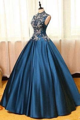 Schönste Abendkleider Online Blau A Line Abiballkleider Günstig Kaufen_3