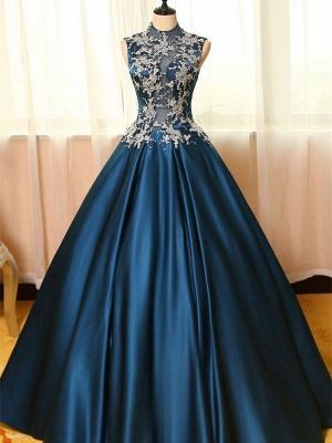 Schönste Abendkleider Online Blau A Line Abiballkleider Günstig Kaufen_1