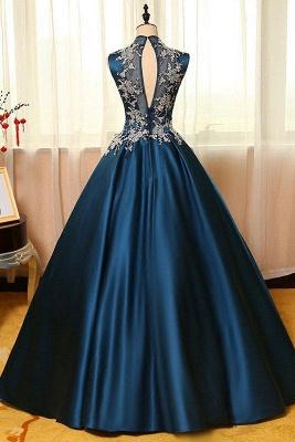 Schönste Abendkleider Online Blau A Line Abiballkleider Günstig Kaufen_2
