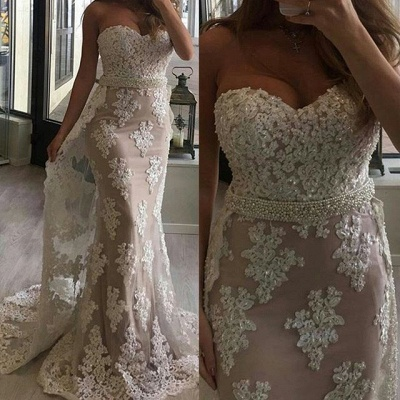 Fashion Evening Dresses Long Cheap Lace Mermaid Evening Wear Prom Dresses_2