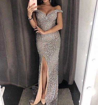 Luxury Grau Abendkleider Lang günstig Abiballkleider Online Kaufen_1