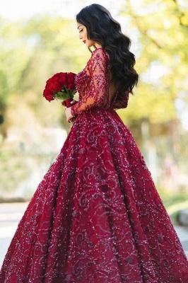 Rote Abendkleider Lang Glitzer | Abendmoden Spitze Online_3