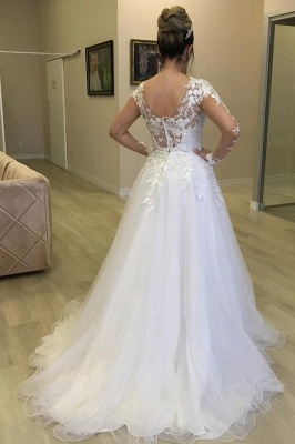 Chic Wedding Dresses With Lace Sleeves | Buy cheap a line wedding dresses_2