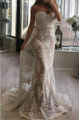 Fashion Evening Dresses Long Cheap Lace Mermaid Evening Wear Prom Dresses_1