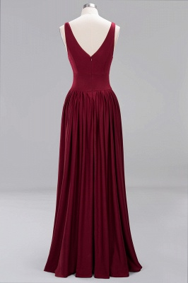 Festive Dresses Bridesmaid Dresses Wine Red Long Cheap Bridesmaid Dress_5