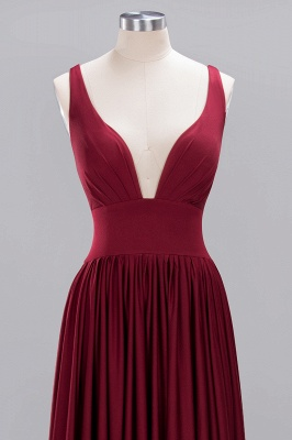 Festive Dresses Bridesmaid Dresses Wine Red Long Cheap Bridesmaid Dress_2
