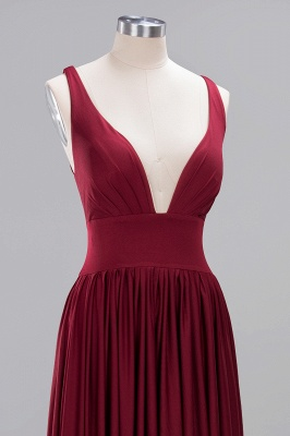 Festive Dresses Bridesmaid Dresses Wine Red Long Cheap Bridesmaid Dress_4