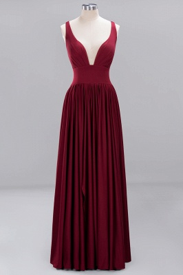 Festive Dresses Bridesmaid Dresses Wine Red Long Cheap Bridesmaid Dress_1